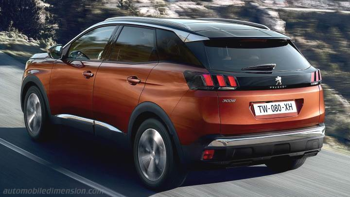 peugeot 3008 2017 dimensions boot space and interior. Black Bedroom Furniture Sets. Home Design Ideas