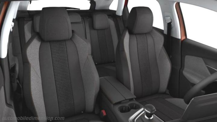 peugeot 3008 2017 dimensions, boot space and interior