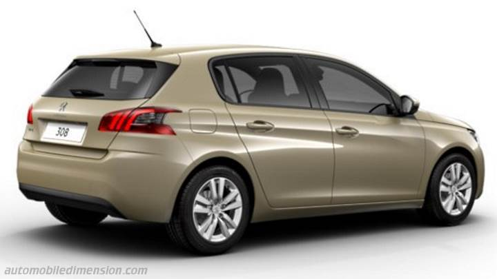 peugeot 308 2017 dimensions boot space and interior. Black Bedroom Furniture Sets. Home Design Ideas