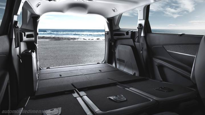 peugeot 5008 2017 dimensions, boot space and interior