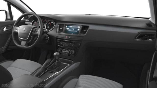 Dimensions peugeot 508 sw 2015 coffre et int rieur for Interieur 508