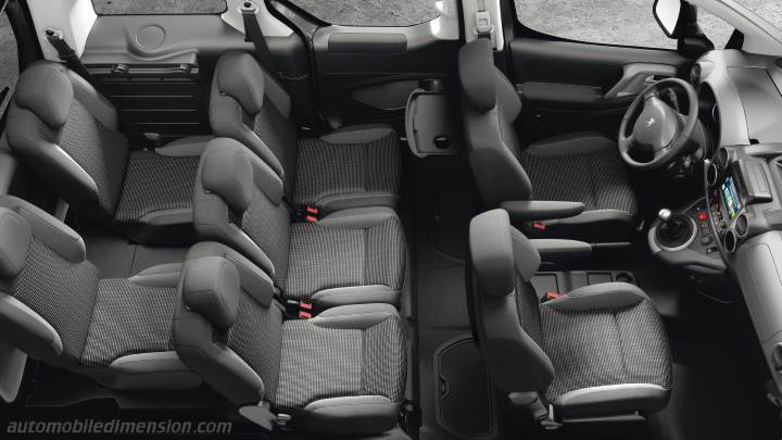 Peugeot Partner Tepee 2015 dimensions, boot space and interior