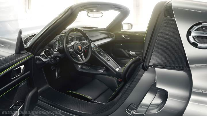 Dimensions porsche 918 spyder 2013 coffre et int rieur for Porsche 918 interieur
