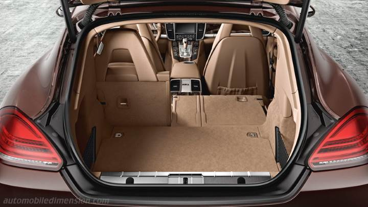 Porsche panamera 2013 dimensions boot space and interior for Porsche panamera interior dimensions
