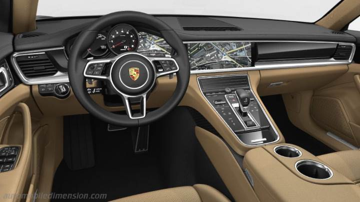 Porsche panamera executive 2017 dimensions boot space and interior for Porsche panamera interior dimensions