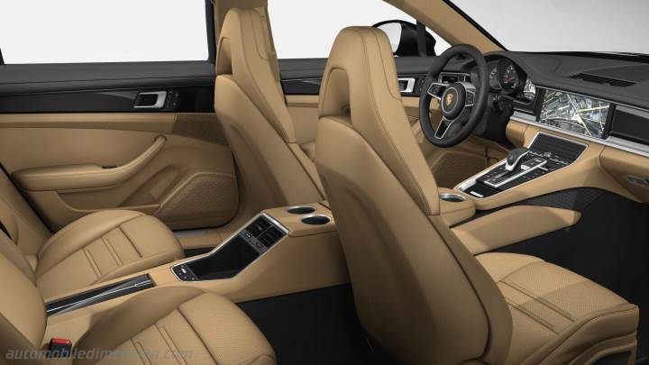 Porsche Panamera Executive 2017 dimensions boot space and interior