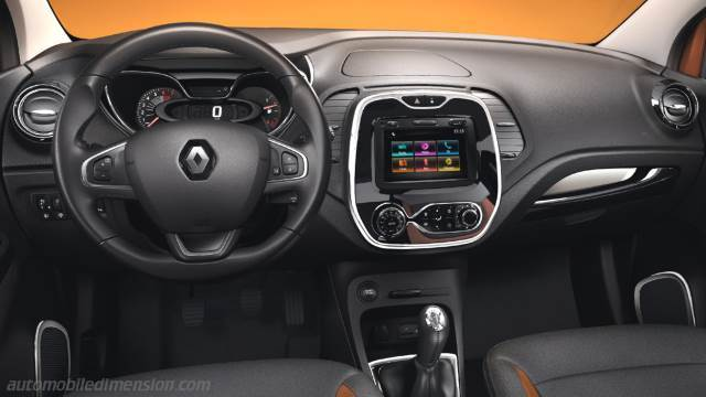 dimensions renault captur 2013 coffre et int rieur. Black Bedroom Furniture Sets. Home Design Ideas