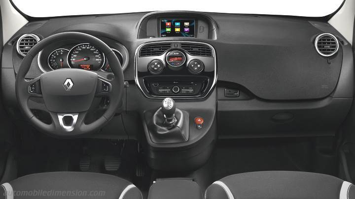 Dimensions renault kangoo 2013 coffre et int rieur for Interieur kangoo