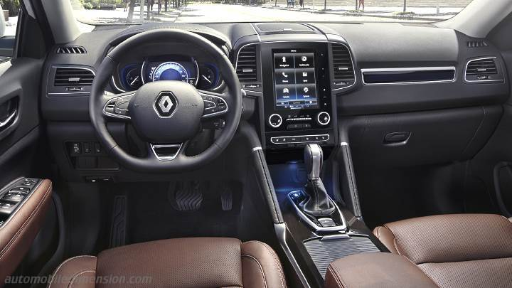 Dimensions renault koleos 2017 coffre et int rieur for Interieur koleos 2017
