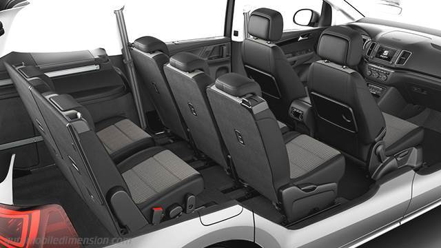 dimensions seat alhambra 2015 coffre et int rieur. Black Bedroom Furniture Sets. Home Design Ideas