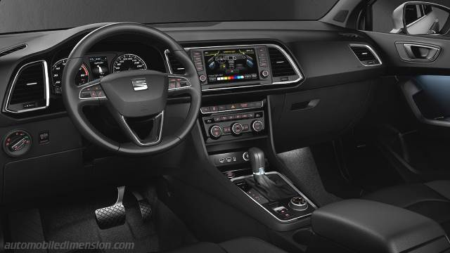 seat ateca 2016 dimensions boot space and interior. Black Bedroom Furniture Sets. Home Design Ideas