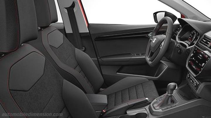 Seat ibiza 2017 dimensions boot space and interior for Interieur seat ibiza