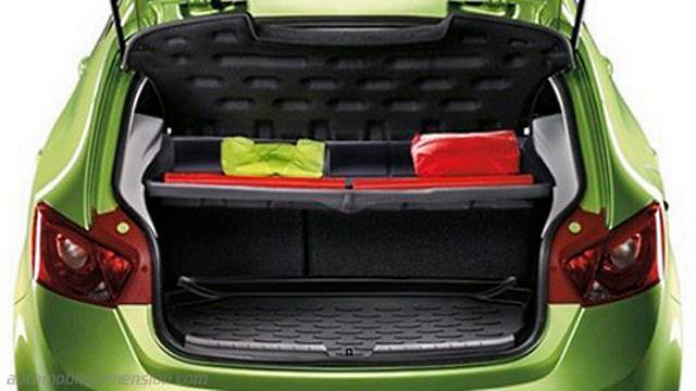 seat ibiza sc 2015 dimensions boot space and interior. Black Bedroom Furniture Sets. Home Design Ideas