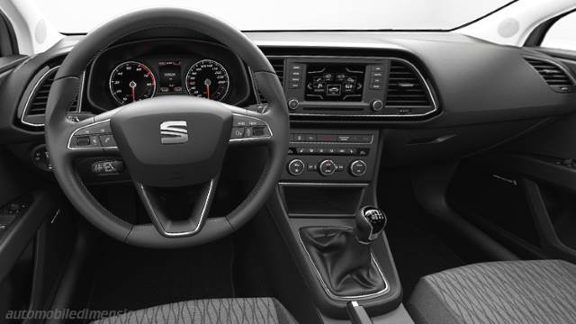 Seat Leon ST 2013 dimensions, boot space and interior