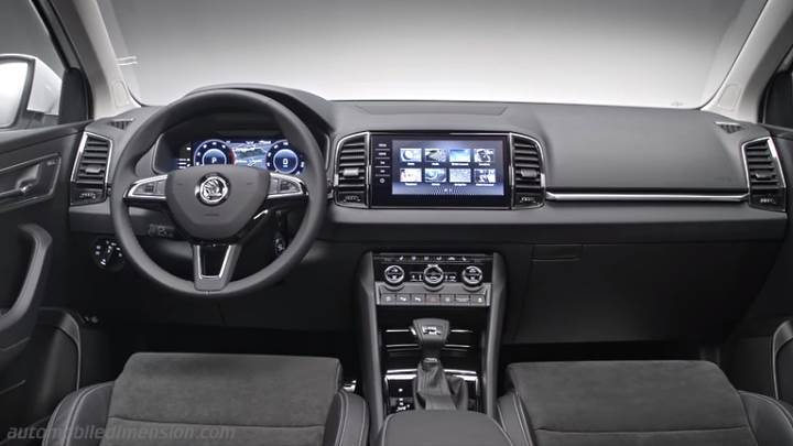 Skoda Karoq 2018 dimensions with photos of the interior and boot space