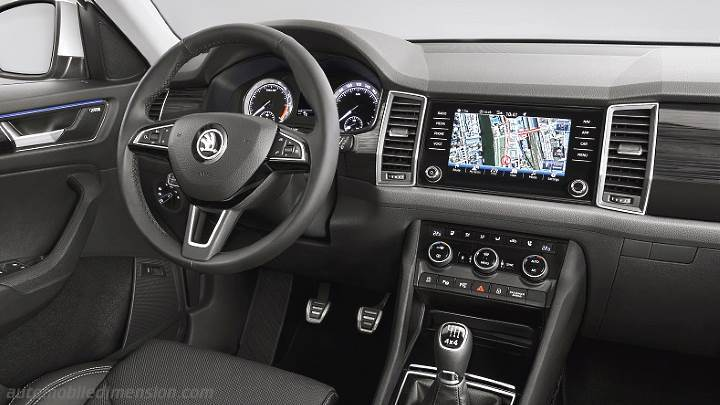 dimensions skoda kodiaq 2017 coffre et int rieur. Black Bedroom Furniture Sets. Home Design Ideas