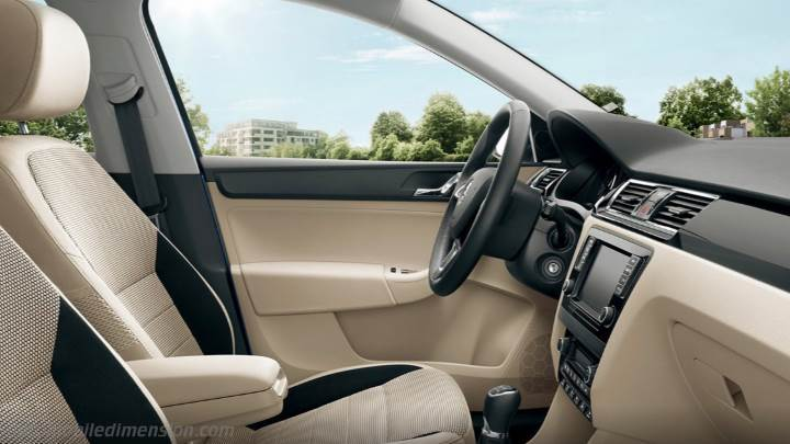 Skoda Rapid 2013 dimensions, boot space and interior