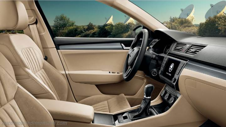 Skoda Superb 2015 dimensions, boot space and interior