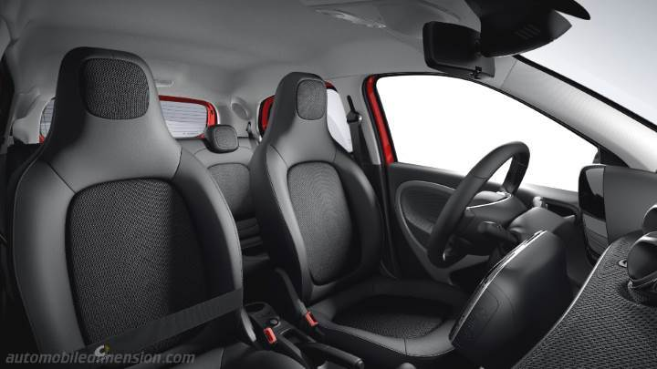 smart forfour 2015 abmessungen kofferraumvolumen und. Black Bedroom Furniture Sets. Home Design Ideas