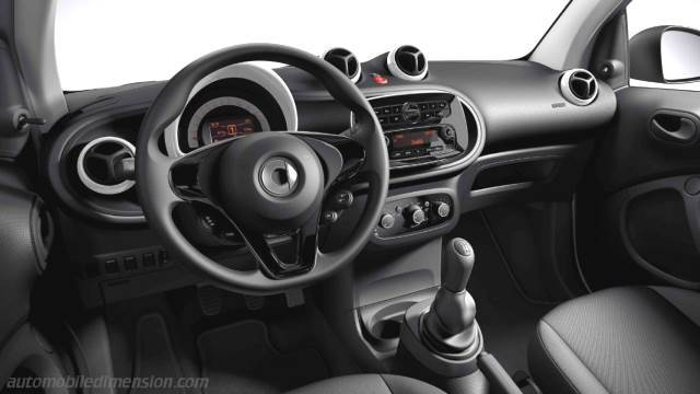 smart fortwo 2015 dimensions boot space and interior. Black Bedroom Furniture Sets. Home Design Ideas