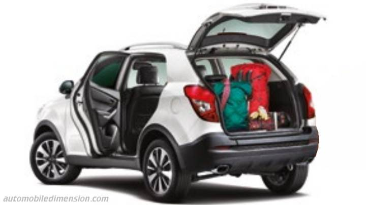 ssangyong korando 2017 dimensions boot space and interior. Black Bedroom Furniture Sets. Home Design Ideas