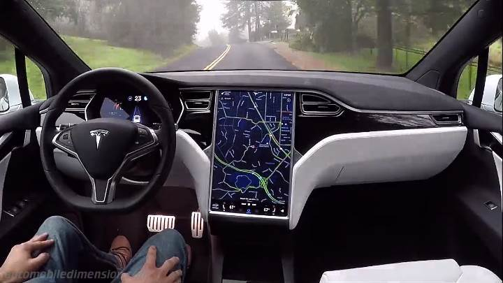 tesla model s 2016 dimensions  boot space and interior