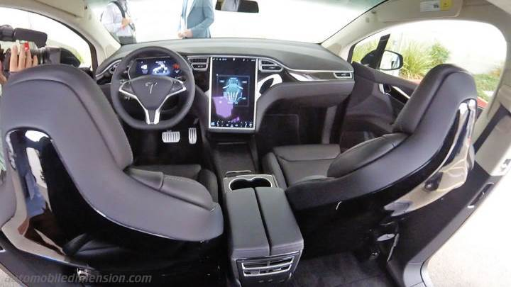 tableau de bord tesla model x 2016 zoom