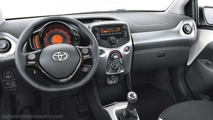 Toyota AYGO 2015 dimensions, boot space and interior