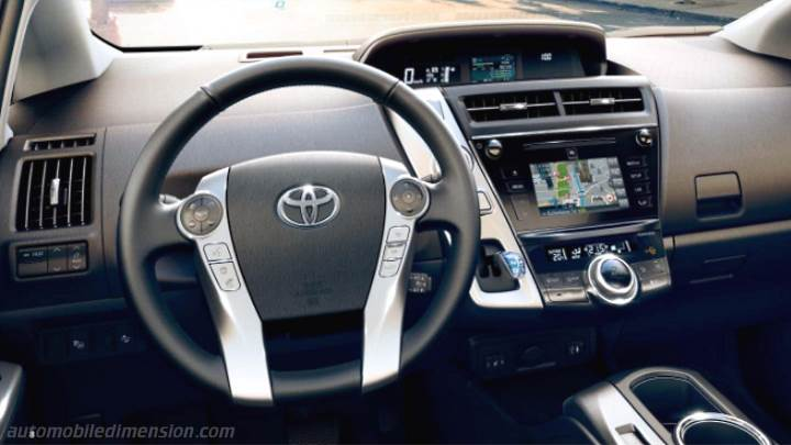 Toyota Prius+ 2015 dimensions, boot space and interior