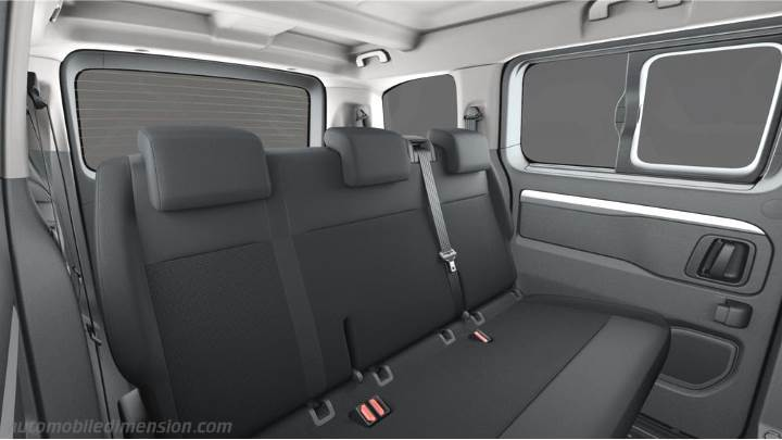 dimensions toyota proace verso compact 2016 coffre et int rieur. Black Bedroom Furniture Sets. Home Design Ideas