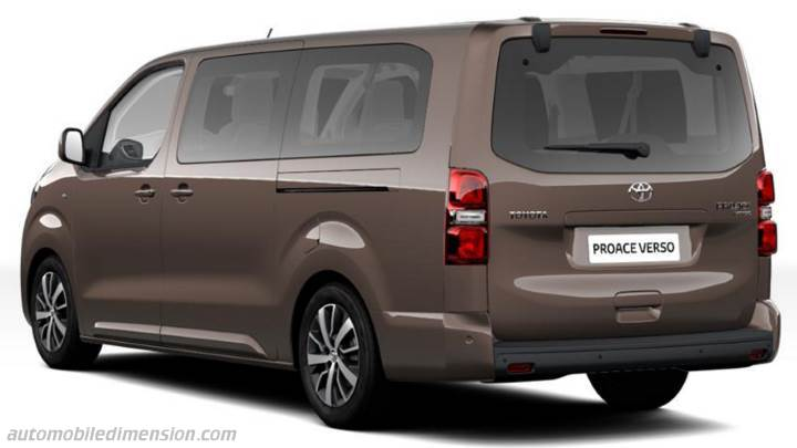 toyota proace verso long 2016 dimensions boot space and. Black Bedroom Furniture Sets. Home Design Ideas