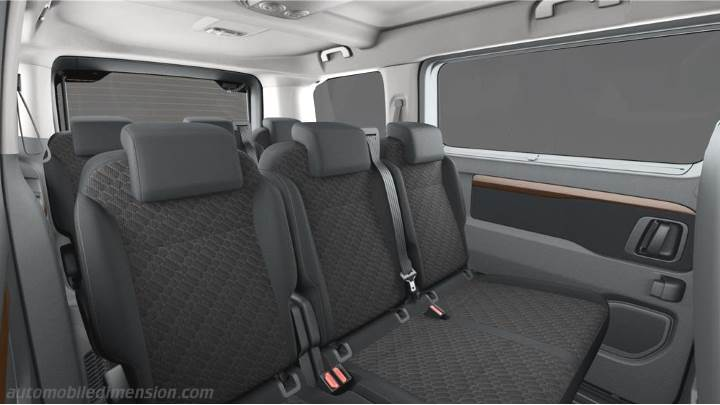 dimensions toyota proace verso medium 2016 coffre et int rieur. Black Bedroom Furniture Sets. Home Design Ideas