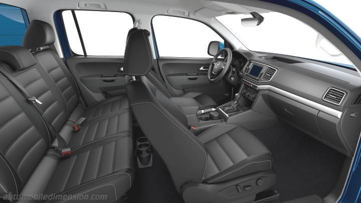 Volkswagen Amarok 2016 dimensions, boot space and interior