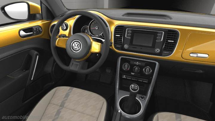 Volkswagen Beetle 2016 dimensions, boot space and interior
