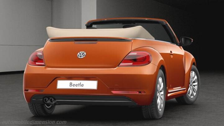 volkswagen beetle cabrio 2016 abmessungen kofferraum und. Black Bedroom Furniture Sets. Home Design Ideas