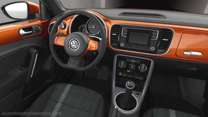 Volkswagen beetle cabrio 2016 dimensions boot space and for Interieur new beetle