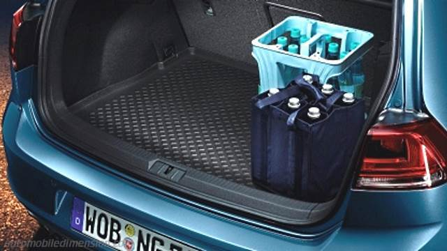 dimensions volkswagen golf 2012 coffre et int rieur. Black Bedroom Furniture Sets. Home Design Ideas