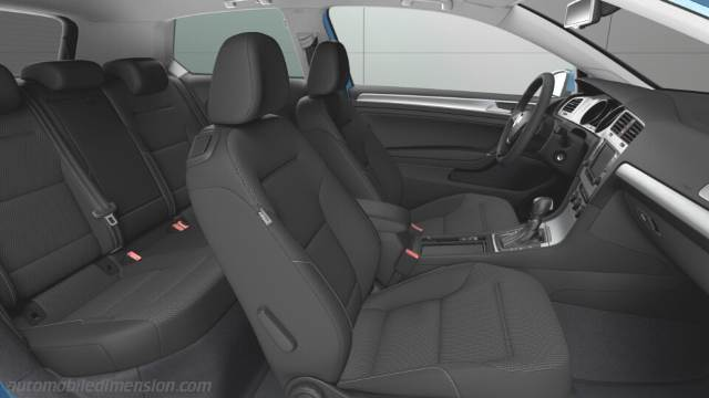 Volkswagen Golf 2012 dimensions boot space and interior
