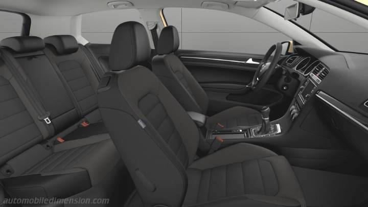 Volkswagen golf 2017 dimensions boot space and interior for Interieur tiguan 2017
