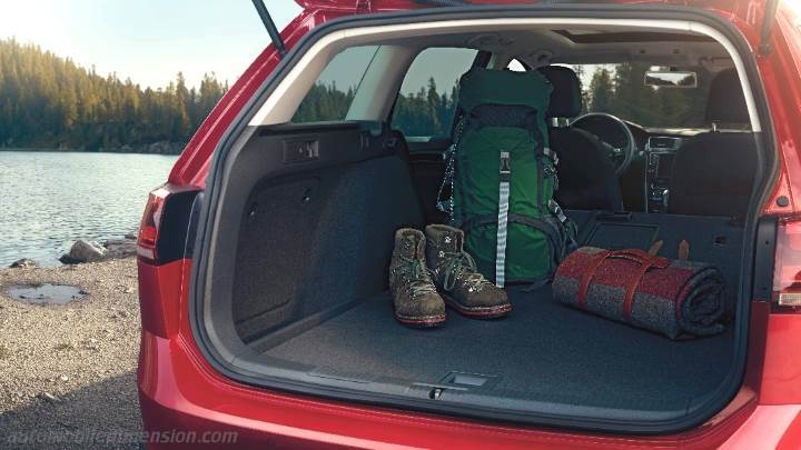 Volkswagen Golf Alltrack 2015 dimensions, boot space and interior