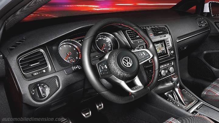Volkswagen Golf GTI Dimensions Boot Space And Interior - 2013 volkswagen golf gti interior