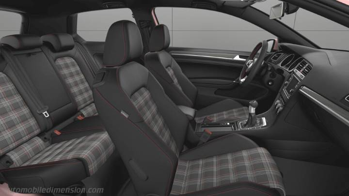 Volkswagen Golf GTI 2017 dimensions, boot space and interior