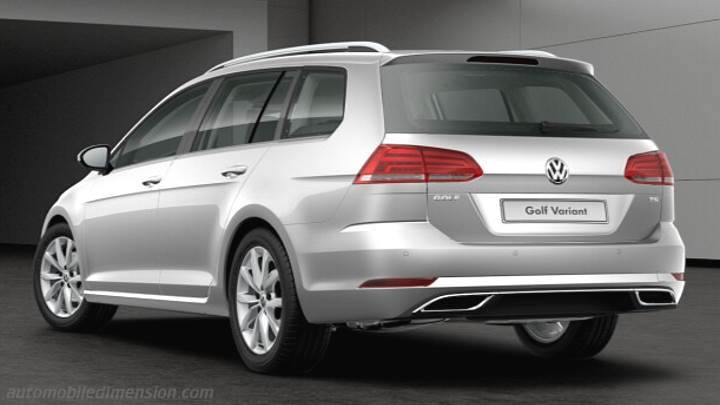 Volkswagen Golf Variant 2017 dimensions, boot space and interior