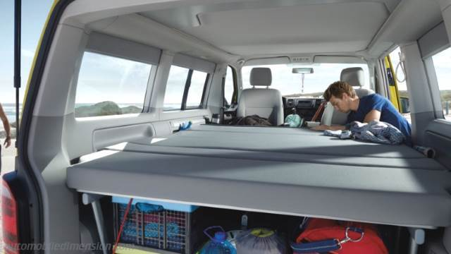 volkswagen t6 california 2015 abmessungen kofferraum und innenraum. Black Bedroom Furniture Sets. Home Design Ideas