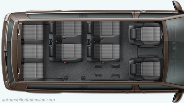 volkswagen t6 caravelle lg 2015 dimensions boot space and. Black Bedroom Furniture Sets. Home Design Ideas