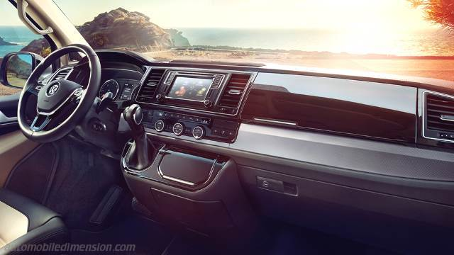 Volkswagen T6 Multivan 2015 dimensions, boot space and interior