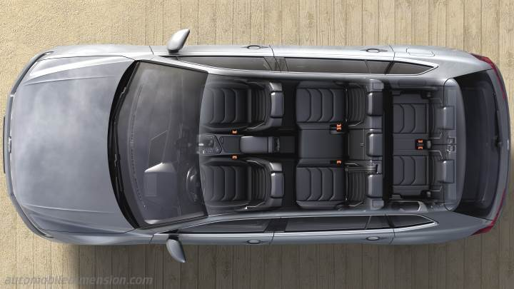 volkswagen tiguan allspace 2018 dimensions boot space and interior. Black Bedroom Furniture Sets. Home Design Ideas
