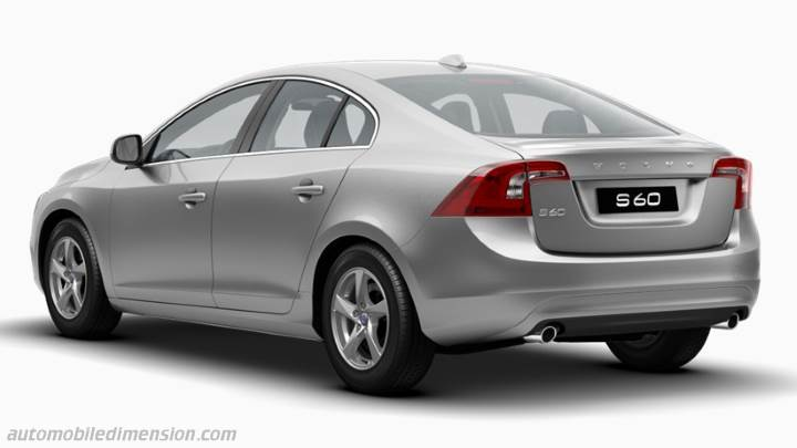 Volvo S60 2013 dimensions boot space and interior