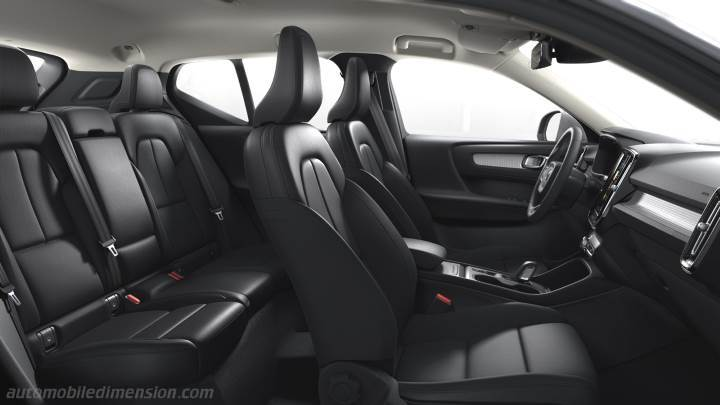 dimensions volvo xc40 2018 coffre et int rieur. Black Bedroom Furniture Sets. Home Design Ideas