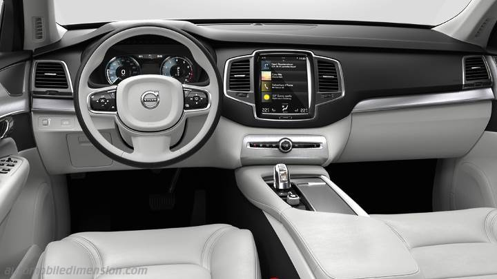 Dimensions volvo xc90 2015 coffre et int rieur for Interieur xc90
